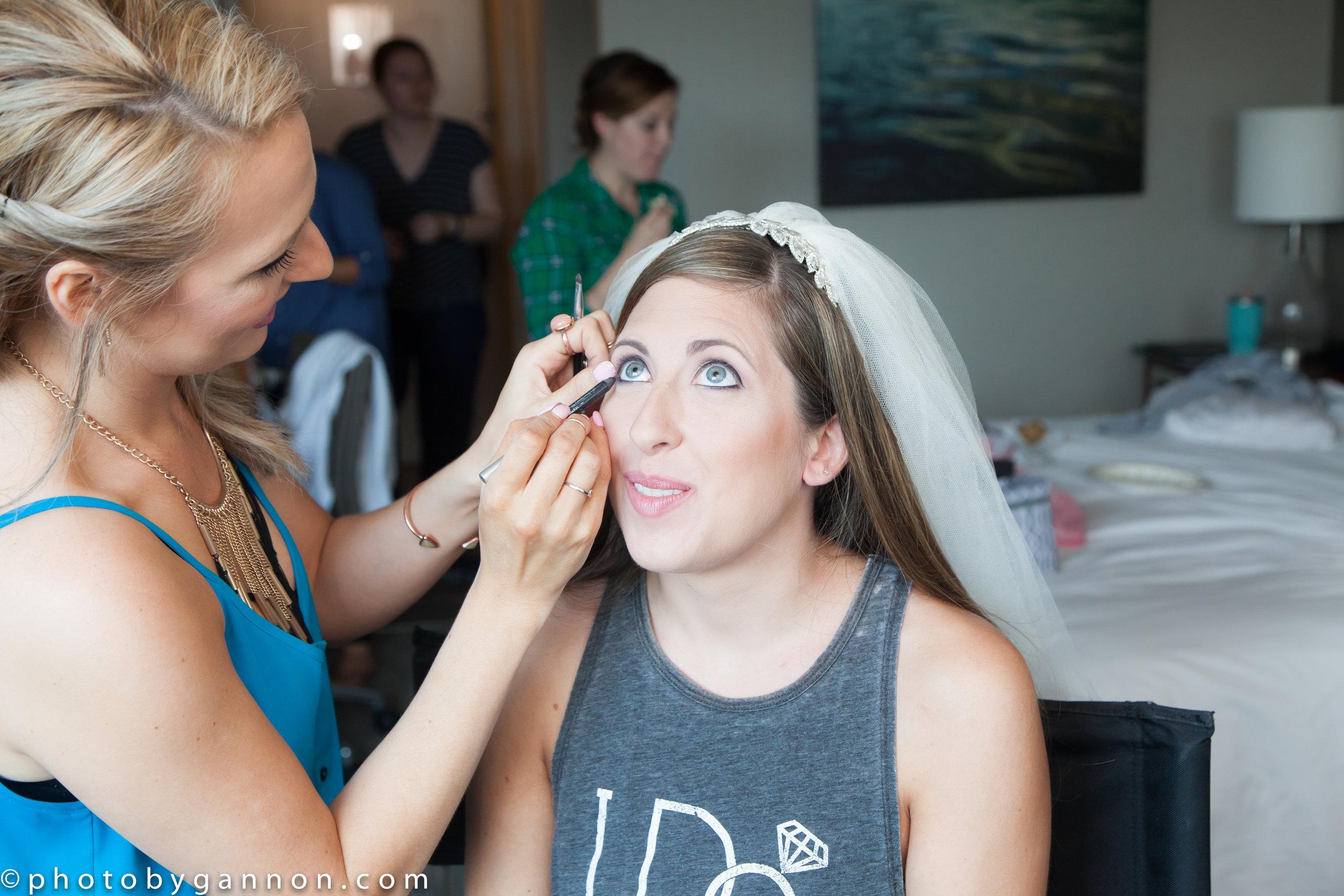 makeup application - lace cosmetics