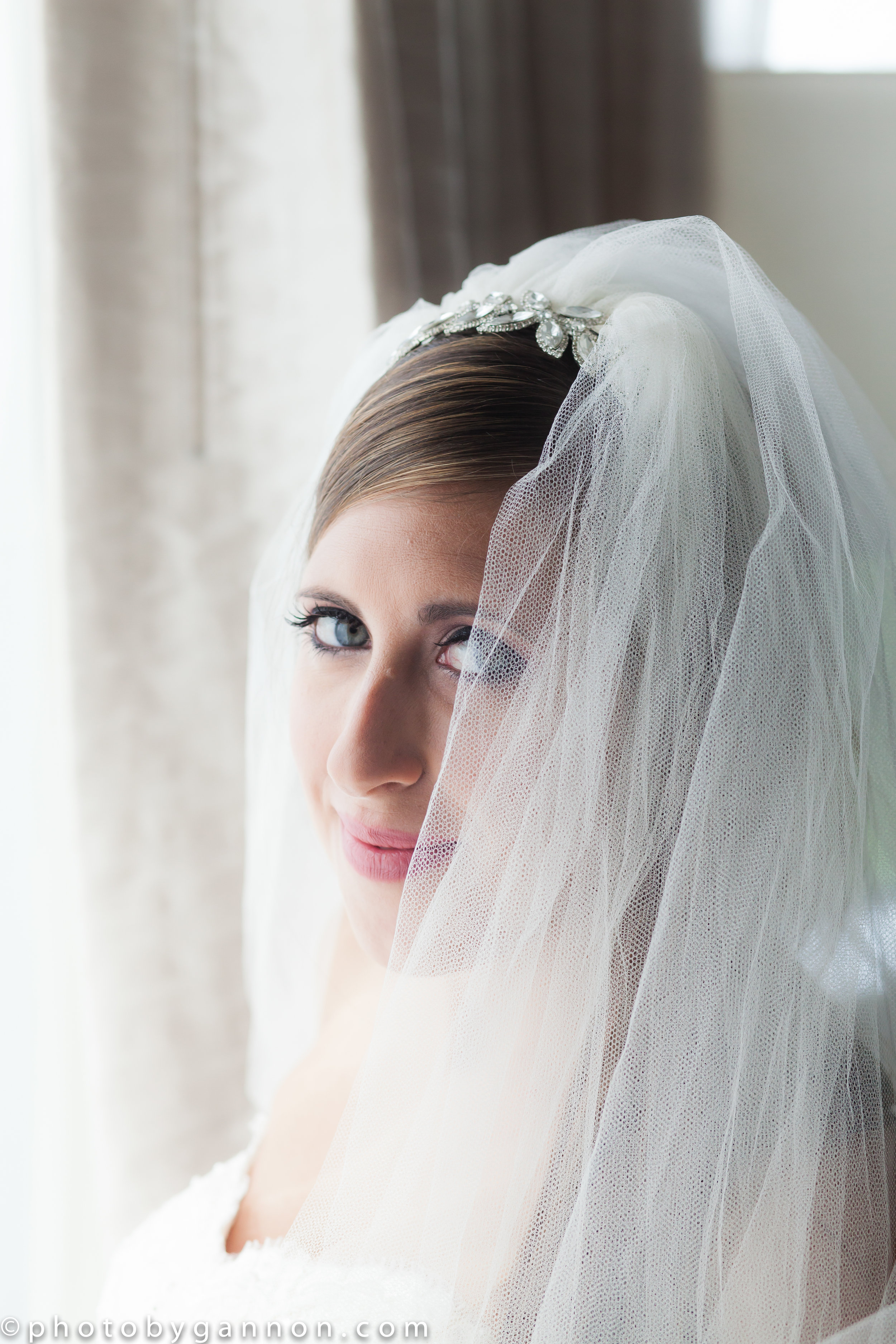 bride and veil - makeup with lace cosmetics