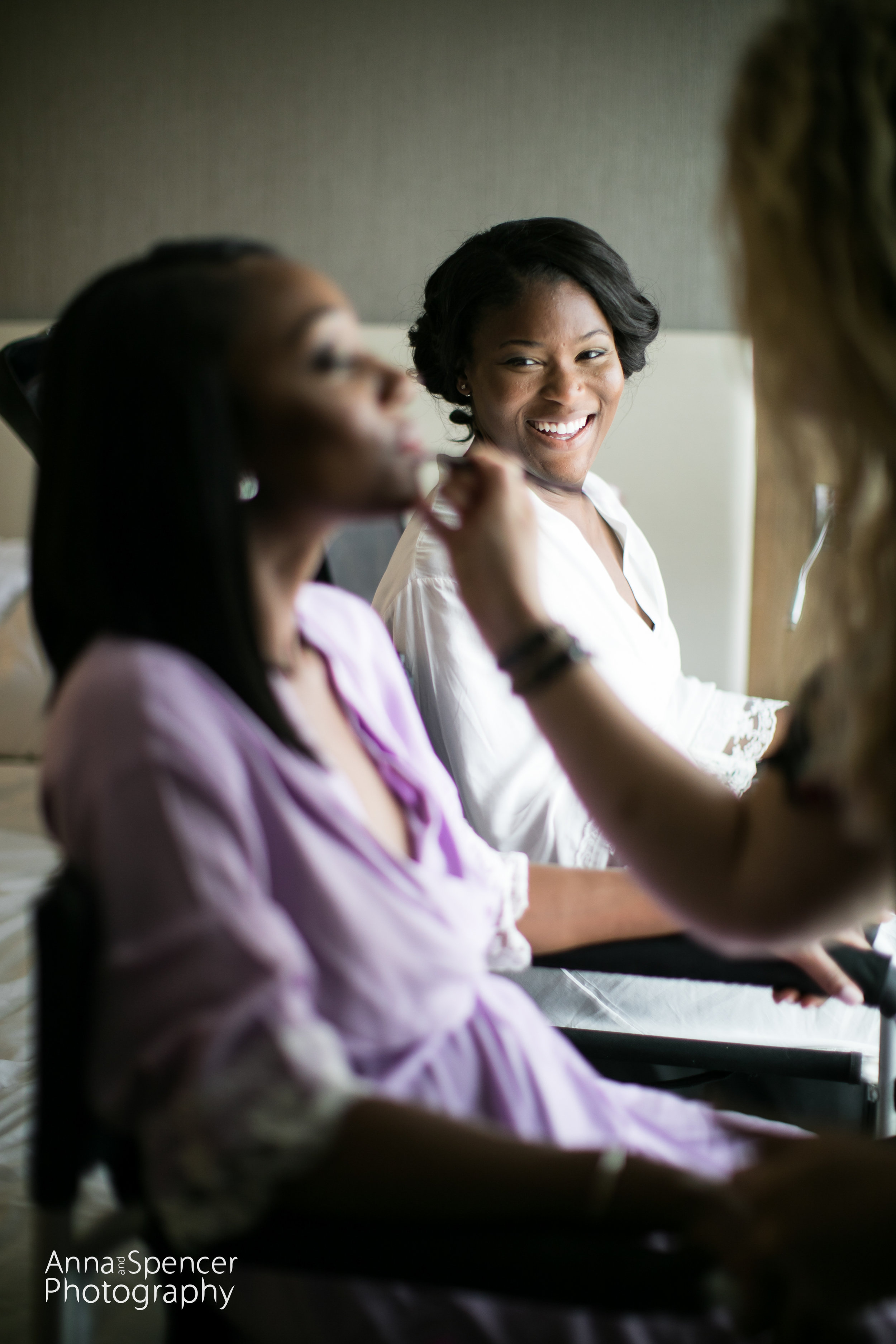 in the makeup chair