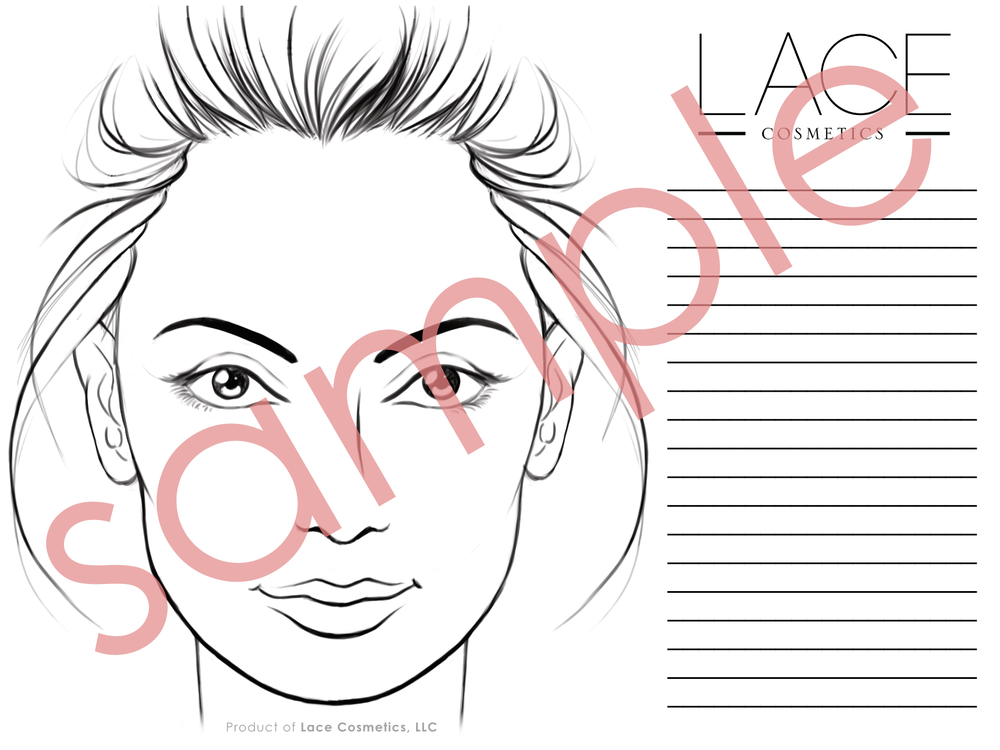 Face Chart Pdf Lace Cosmetics