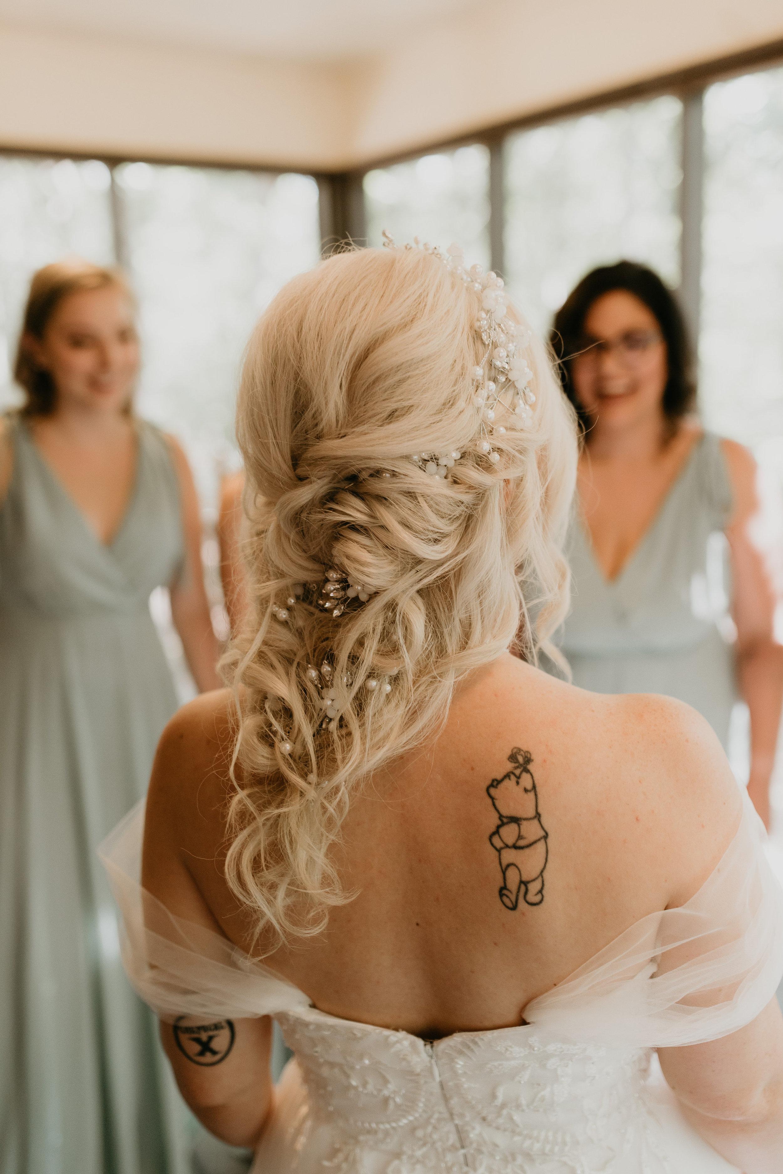 wedding hair by melanie sorrow