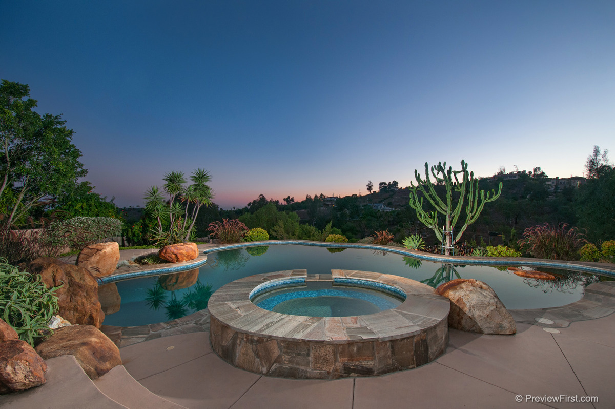 5 - WEB -Second Pool and Spa View at Dusk.jpg