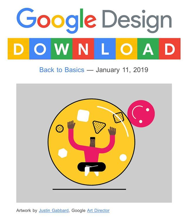 Spotted on the #googledesign download this morning. Fun collaboration illustration with @matthewhollister ⚪️💭🔮🧿💣#bubbles