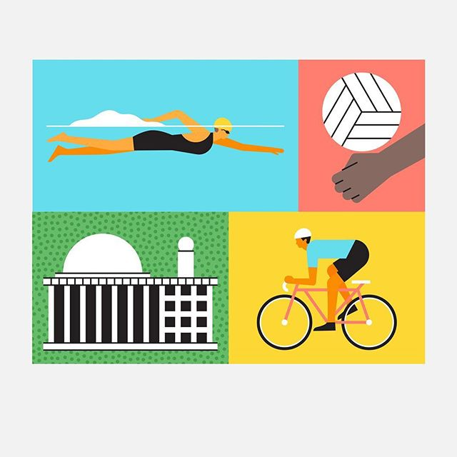 Here are a couple of alternate images for our Asian Games promotion, illustrated by @freshaugust for Google Play in Indonesia and all across Asia. #asiangames2018 #illustration