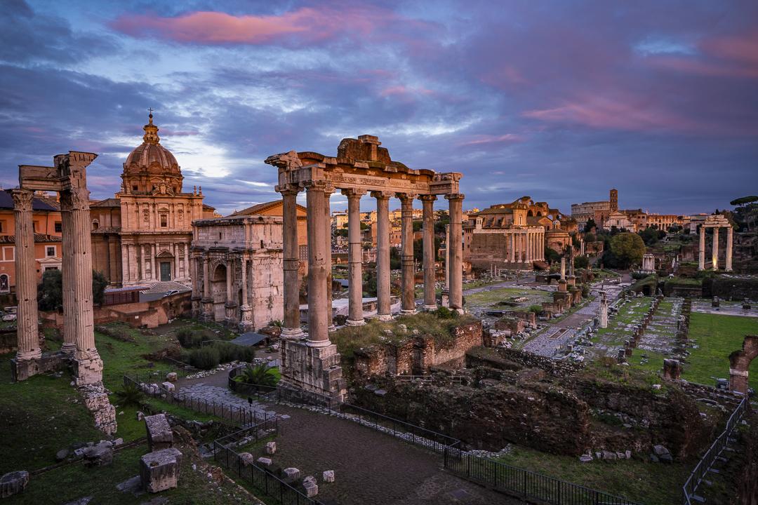Sunset at the Roman Forum.
