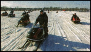 Scorpion owners have kept their sleds in running condition, judging by the 100+ old sleds that managed the 10-mile run around Serpent Lake in the afternoon.
