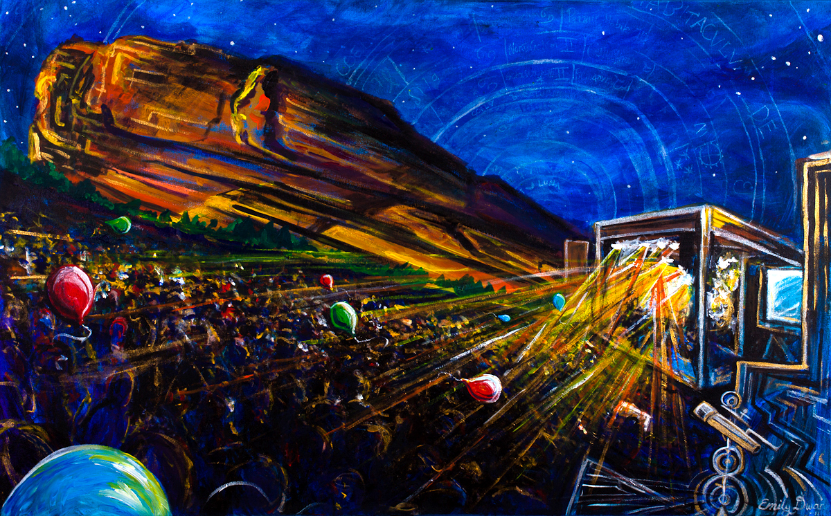 """COSMOS OVER RED ROCKS"""
