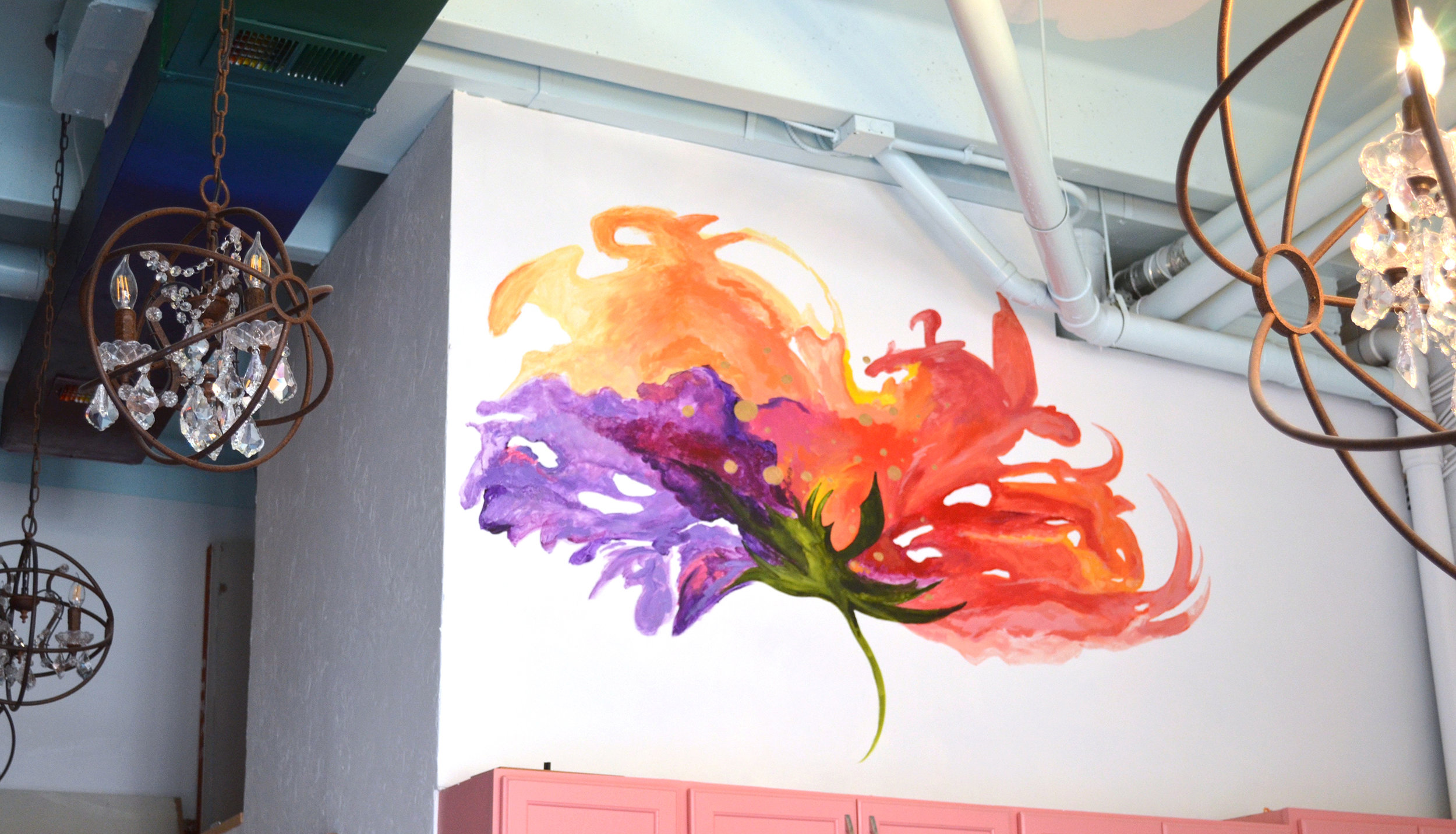 Mural created for Phia Labs in Denver, Colorado.