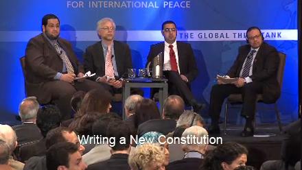 Khaled speaking at the Carnegie Endowment for International Peace, April 2012, Washington DC.