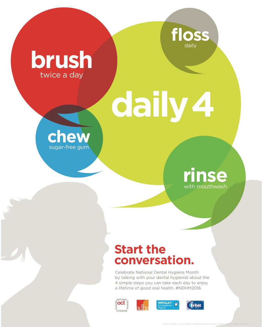 Download the National Dental Hygiene Month Awareness Poster (PDF)