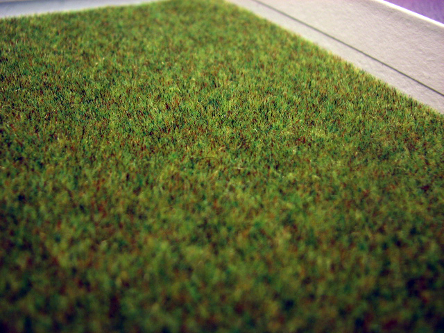 A closeup of the Astroturf paper