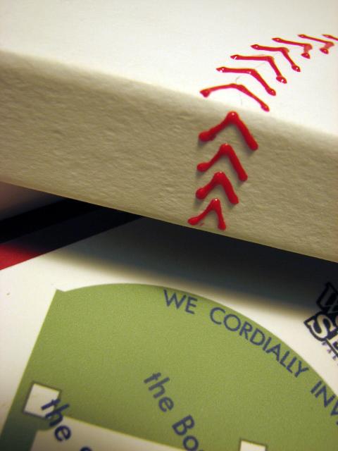 """Closeup of the Baseball """"stitching"""""""