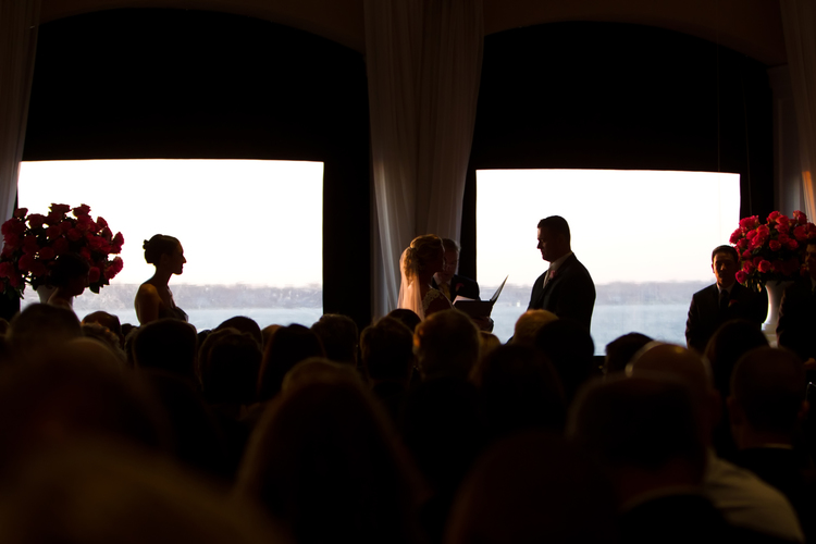 Wedding Ceremony at the Island House, Belle Mer, Newport, Rhode Island