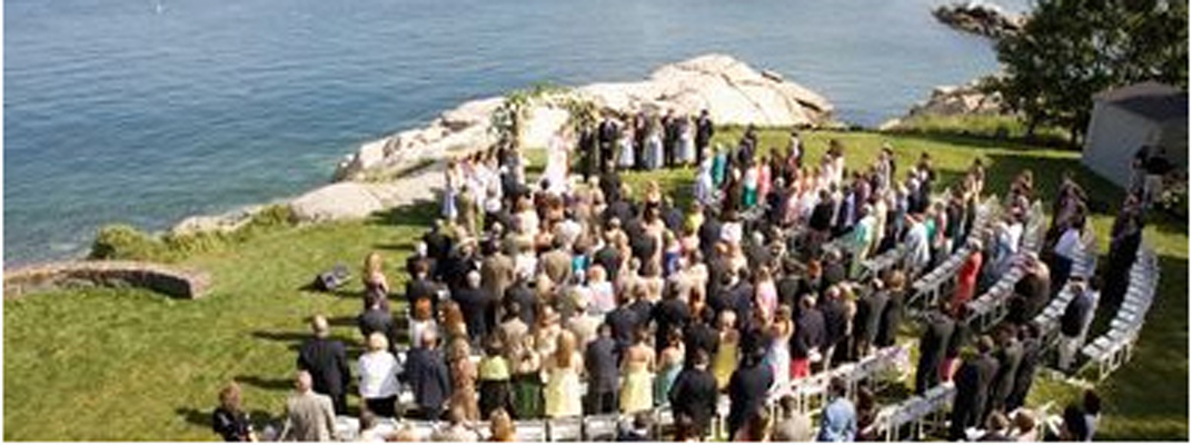Wedding Ceremony at Private Residence in Marblehead, Massachusetts
