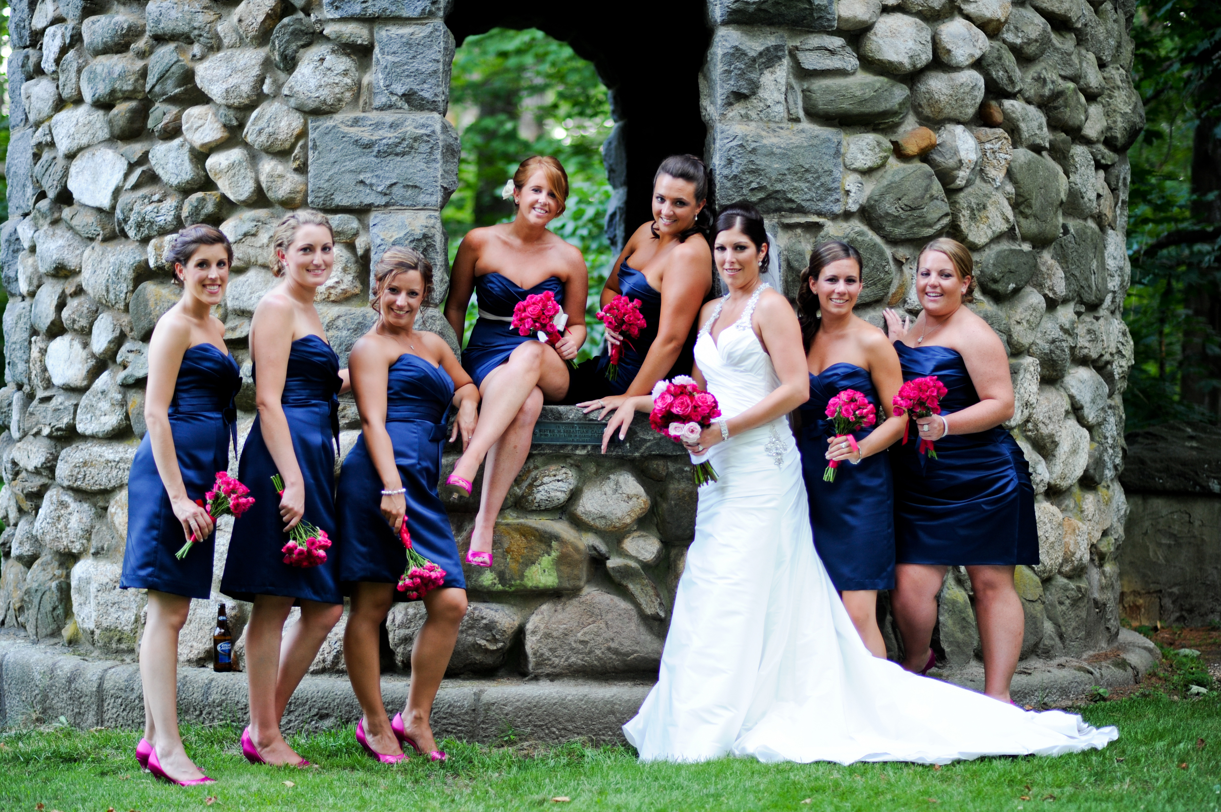 Our lovely bride and her bridesmaids