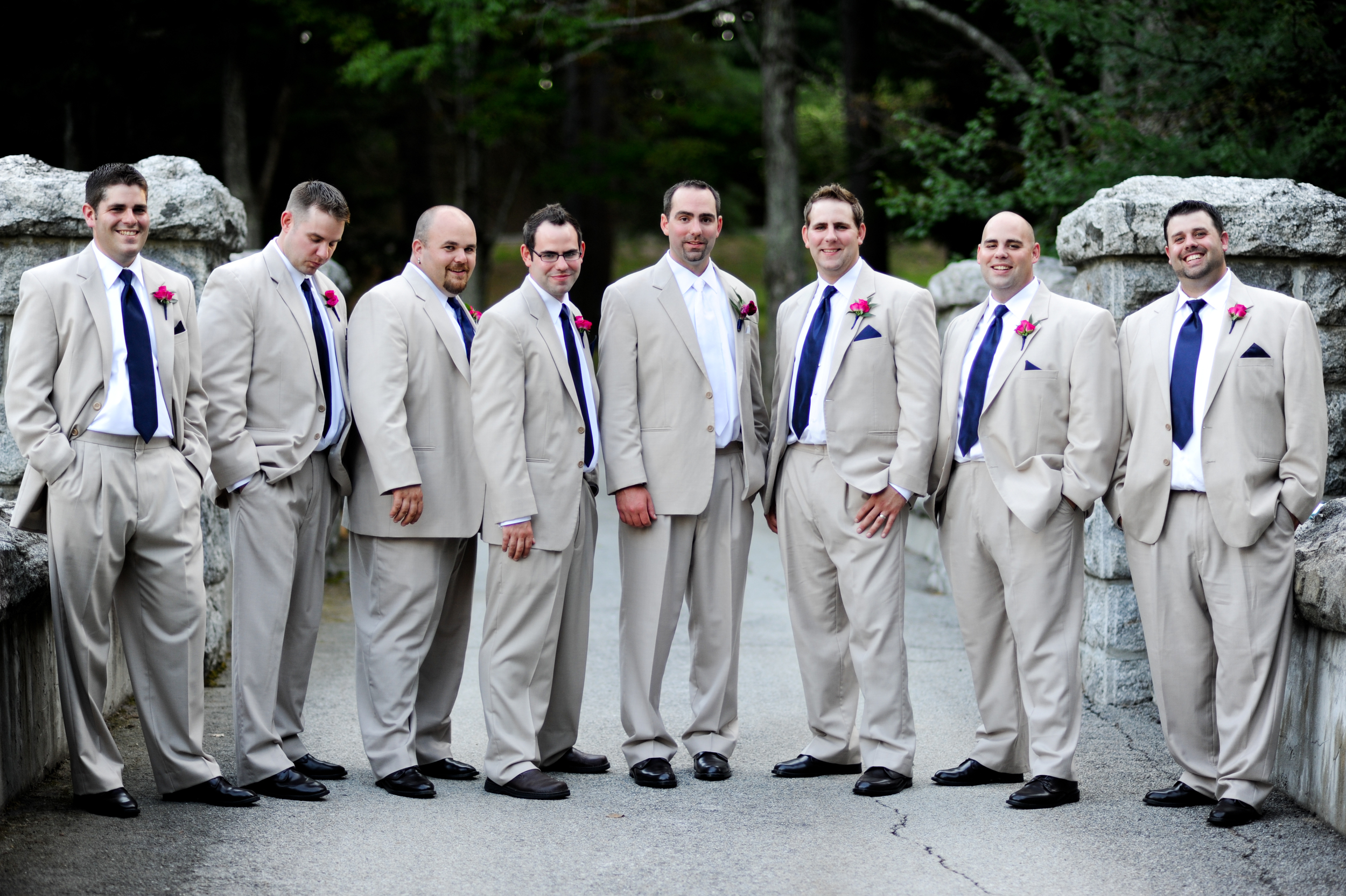 The handsome groom and his groomsmen