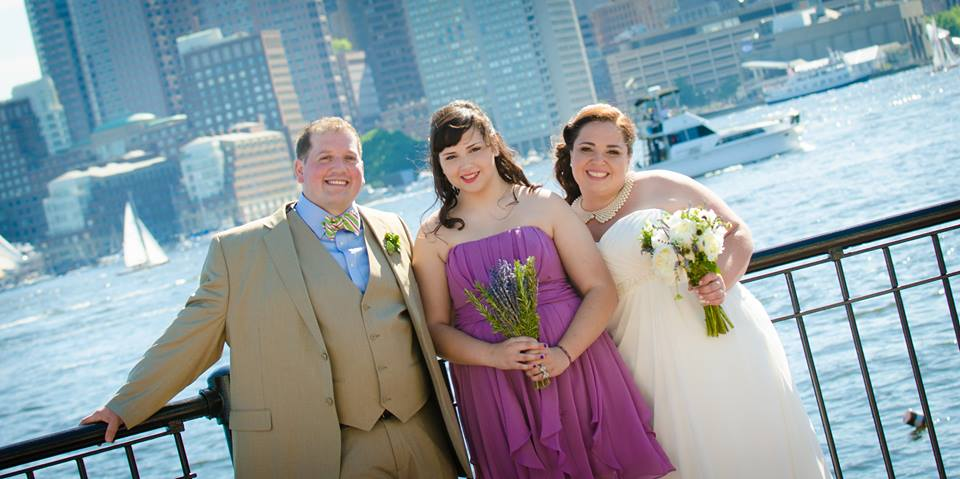from left to right: Chef Ethan, Pri's daughter and maid of honor, Sabrina and the lovely bride, Chef Priscila on their wedding day!