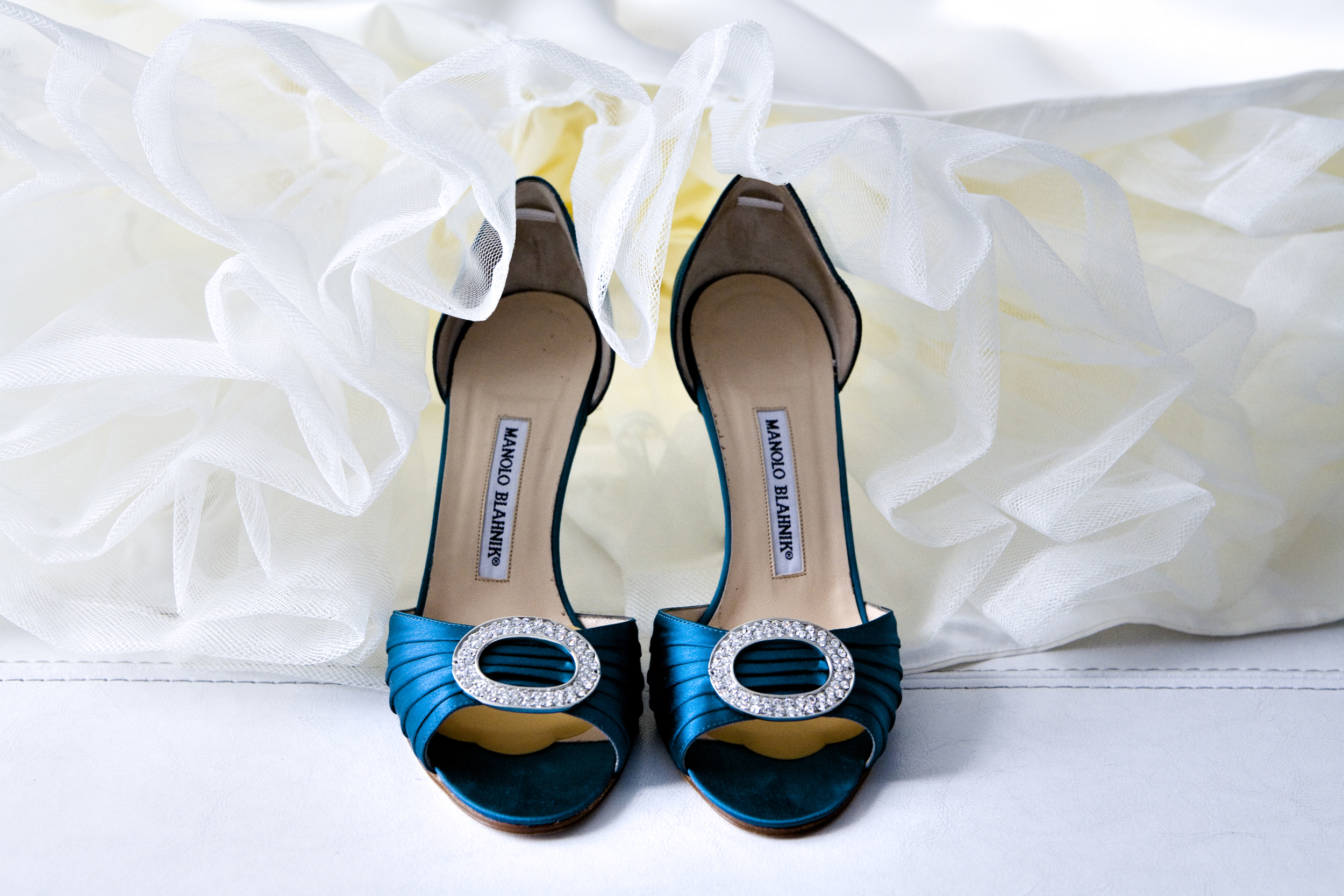 "The bride's ""something blue"" - her amazing Manolo Blahnik shoes! LOVE!"