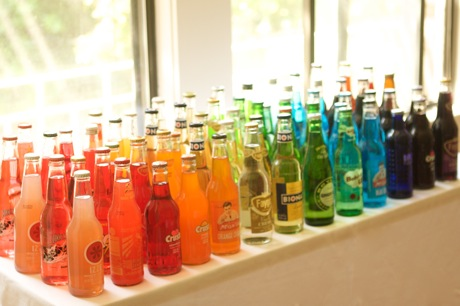 A rainbow hued soda bar is so clever!