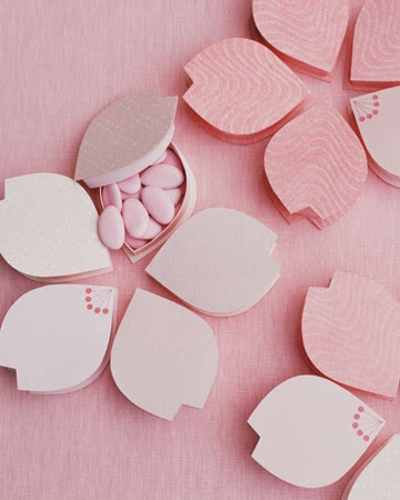 Cherry Blossom Favor Boxes are cute and clever!