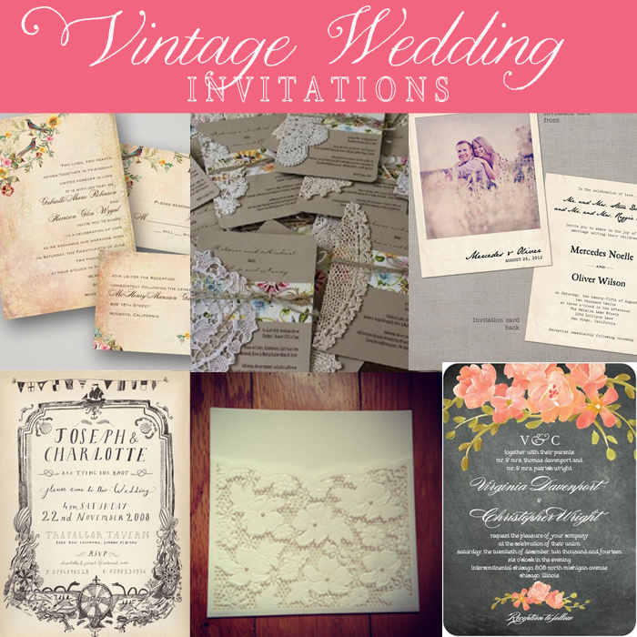 Trending Wedding Invitations: Trending Tuesday: Vintage Wedding Invitations