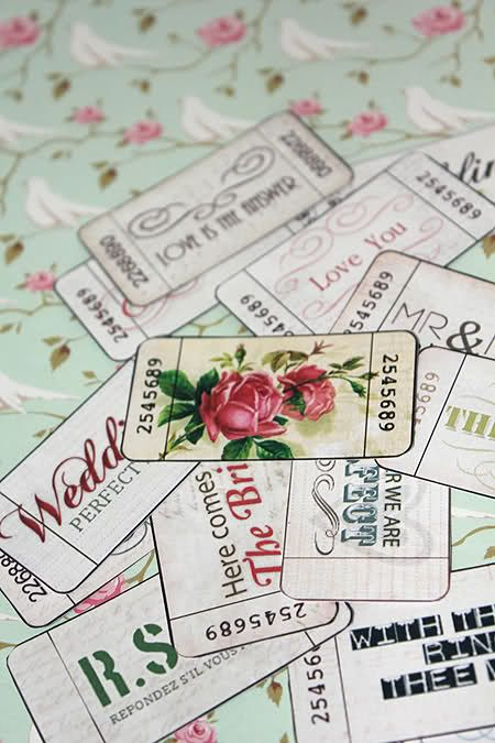 These FREE DIY vintage printables are perfect to add some special little details to your event!