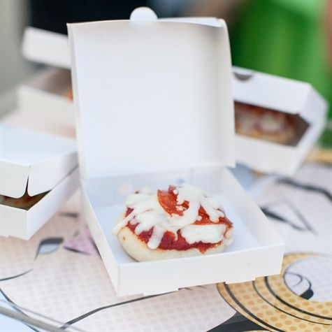 A personal pizza in a cute little to-go box would work equally cute for a late night snack - don't you think?