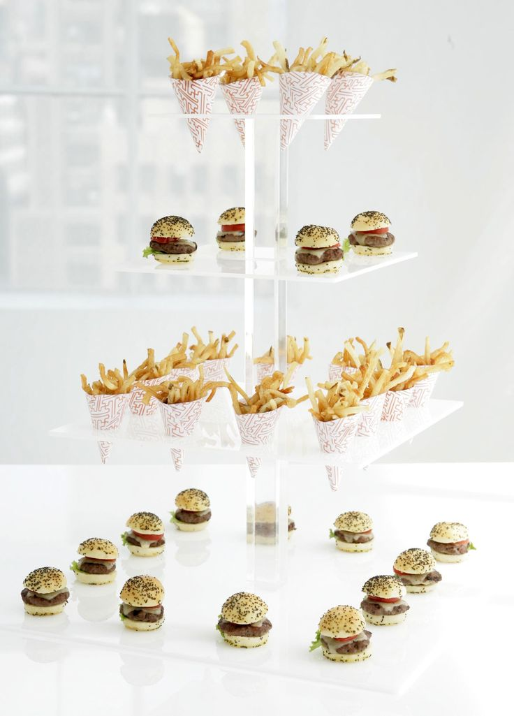 And last but certainly not least, the quintessential burger and fries served in the cutest little tower.