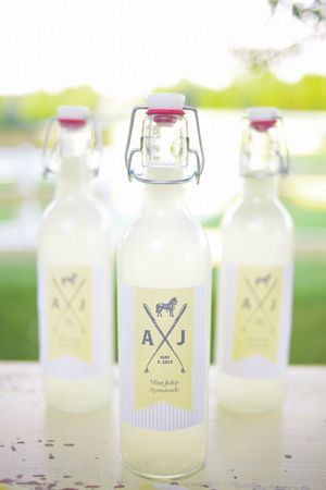 Lemonade is a natural way to add a little pale yellow pop to your reception (or for wedding favors!)