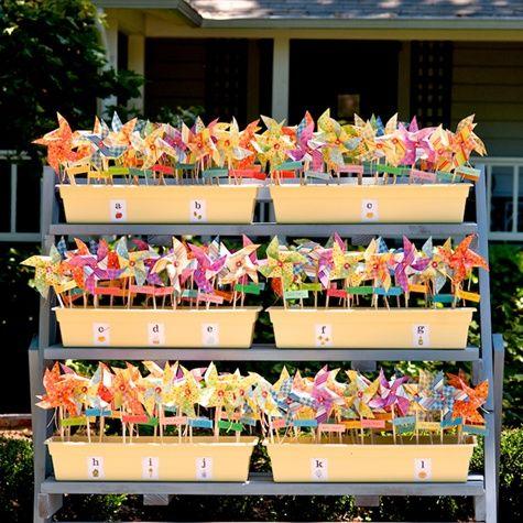 How fun to have pinwheels!