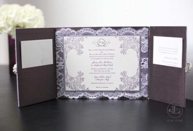 This exquisite Lilac Wedding Invtation is definitely a wedding we would want to go to!