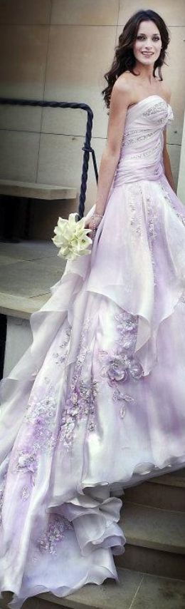 This Lilac Wedding Dress takes our breath away!