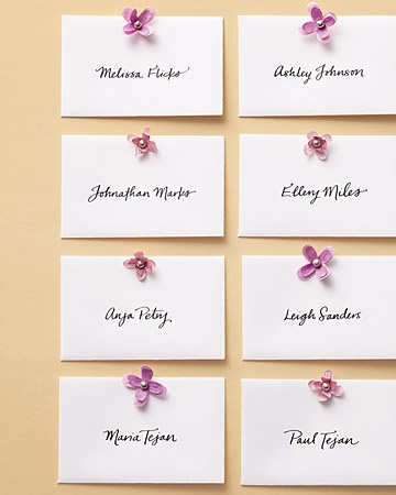 These Lilac Escort cards are so sweet!