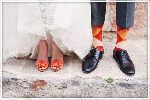 The orange shoes and socks are just so adorable!