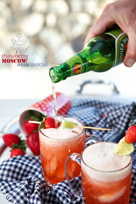A berry twist on the popular Moscow Mule!