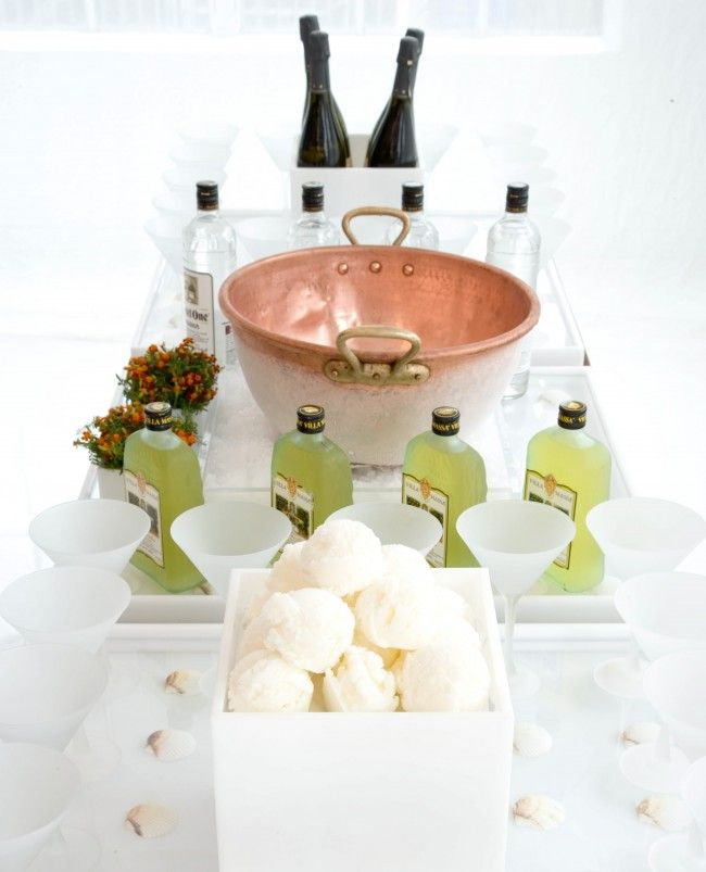 """What happens when you combine a lemon sorbet """"snowball"""", limoncello, vodka and champagne? You get a delicious treat!"""