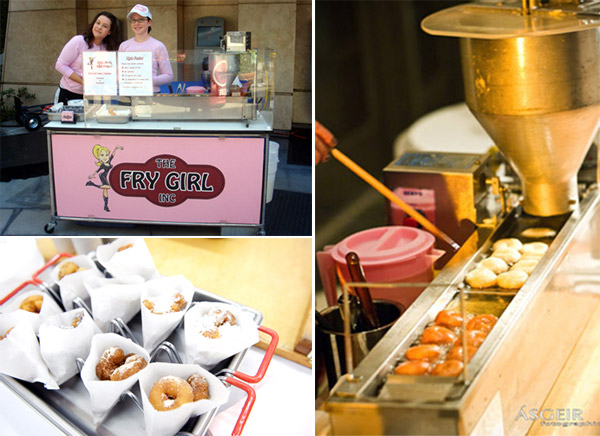 Mini donuts fried on the spot at your wedding? WHAAAT??? If we were a little closer to Venice, California we would want to be BFF's with The Fry Girl! We can dream of a New England expansion, can't we?