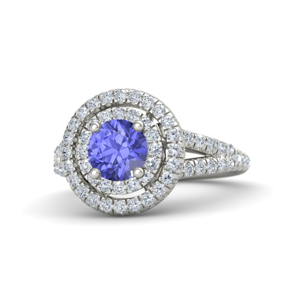 Eloise ring with Tanzanite, Diamonds and White Gold