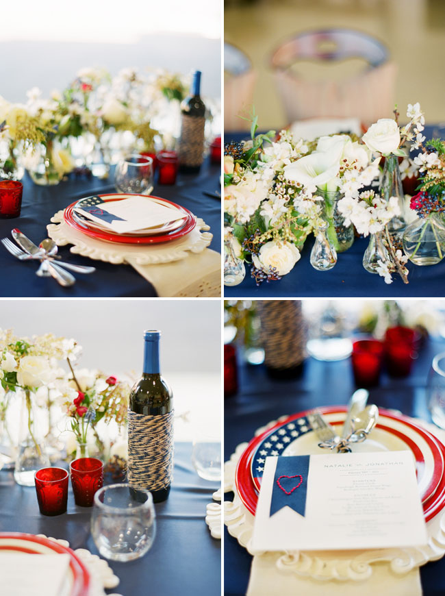 This Tablescape is simple and sweet. We love the use of twine and thread for texture.