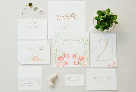 This sweet and whimsical watercolor invitation just is perfect!