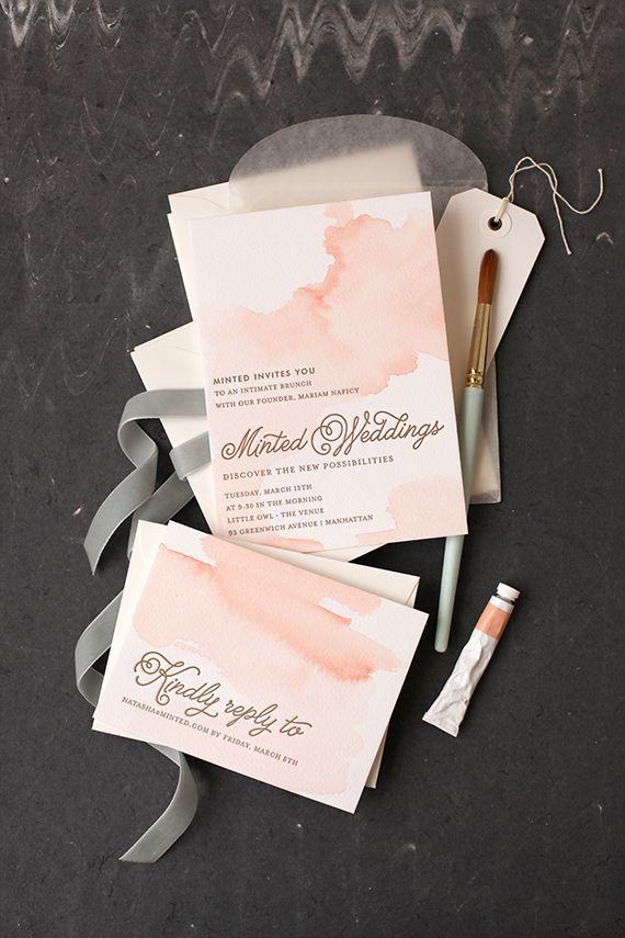 This is a DIY Tutorial on creating your own Watercolor Invitations!If you try this, please let us know how it went!