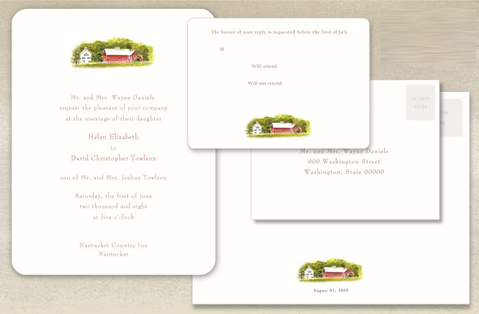 We love custom and this amazing invitation from Felix Doolittle is no exeption. We love the New England barn detail and think this would be the perfect invitation for a Rustic barn wedding!