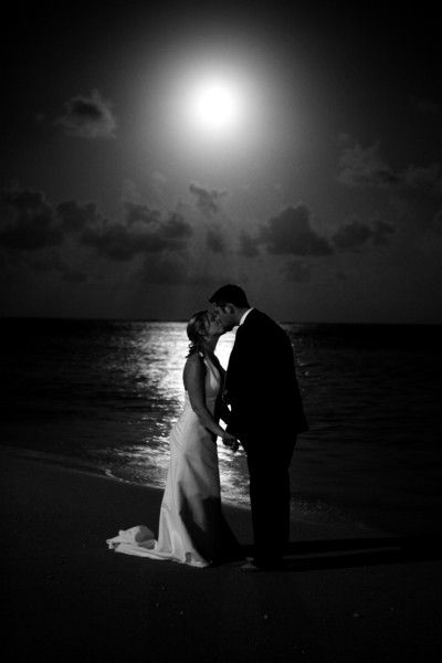 Last but certainly not least, a kiss under the REAL moon is the perfect cap to the end of a beautiful wedding day!