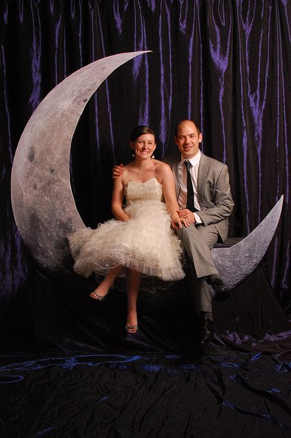 This moon (although not full) is a fun prop to make for your wedding to use in your photo booth!