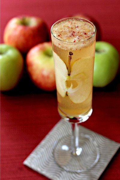 Apple Bourbon Bellini