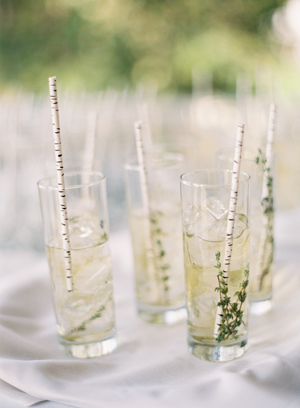 Birch Drinking Straws - We love a good cocktail and having a drinking straw that looks like birch is a perfect little detail!