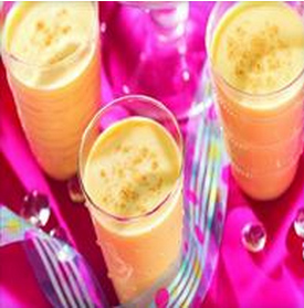 Coffee Eggnog Punch  - Thanksgiving usually means seeing cartons of eggnog in the grocery store in every kind of flavor - pumpkin, sugar cookie and the list goes on and on! We love that this punch combines coffee and eggnog. We think this would be particularly nice if you have guests coming in the late morning who didn't get their coffee fix at home.