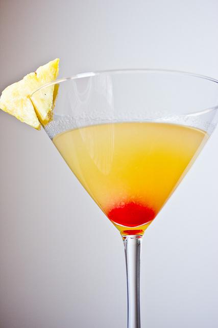 Pineapple Upside Down Cake Martini