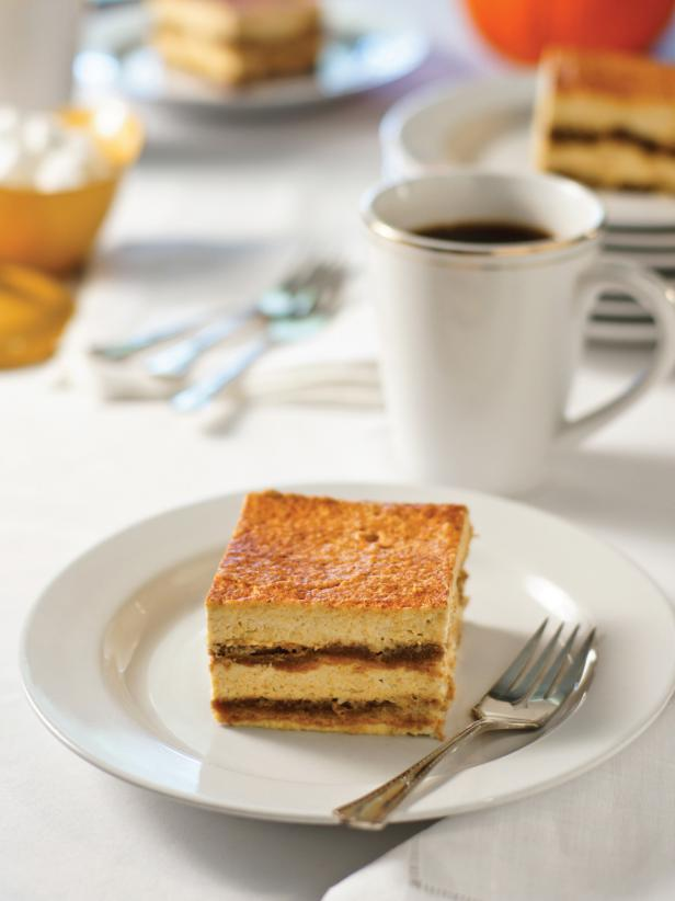 Pumpkin Cheesecake Tiramisu - The idea of tiramisu anything makes us happy and combining it with pumpkin is brilliant! Another dessert that can be made ahead of time.