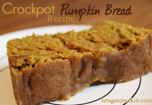Crock Pot Pumpkin Bread - I am always on the lookout for a great crockpot recipe and this one fits the bill so nicely! I always have leftover pumpkin from making a pie or two and now I have a great use for the remaining pumpkin!